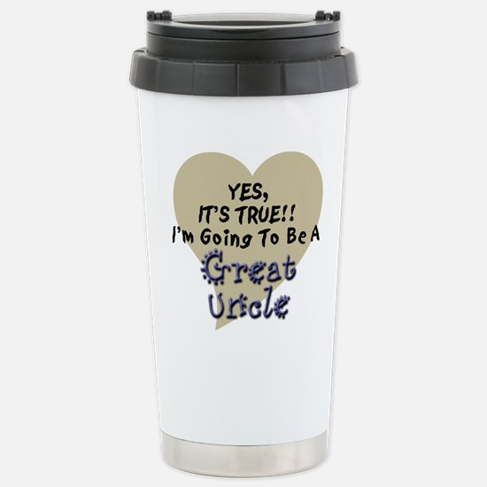 True Great Uncle To Be Stainless Steel Travel Mug