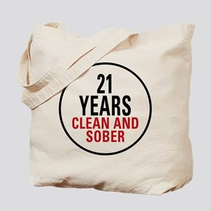 21 Years Clean and Sober Tote Bag
