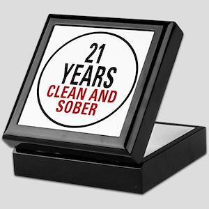 21 Years Clean and Sober Keepsake Box