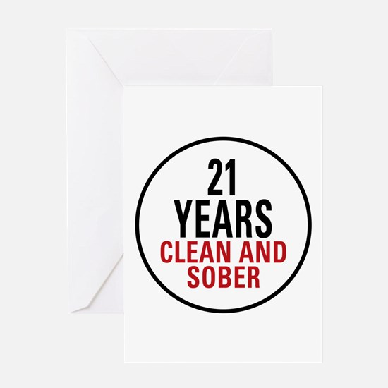 21 Years Clean and Sober Greeting Card