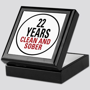 22 Years Clean and Sober Keepsake Box