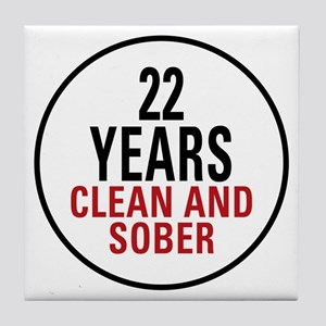 22 Years Clean and Sober Tile Coaster
