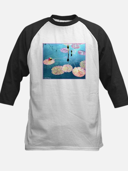 Water Lilies, colorful, Kids Baseball Jersey