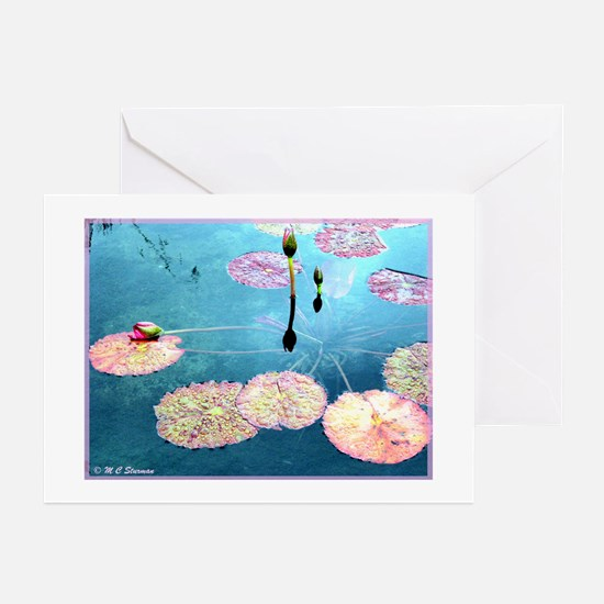 Water Lilies, colorful, Greeting Cards (Pk of 20)