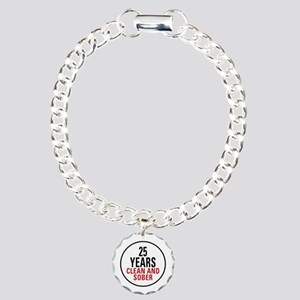 25 Years Clean and Sober Charm Bracelet, One Charm