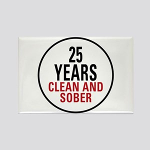 25 Years Clean and Sober Rectangle Magnet