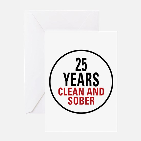 25 Years Clean and Sober Greeting Card