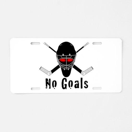 NoGoals Aluminum License Plate
