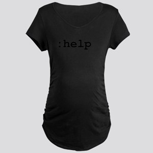 :help vim command Maternity Dark T-Shirt