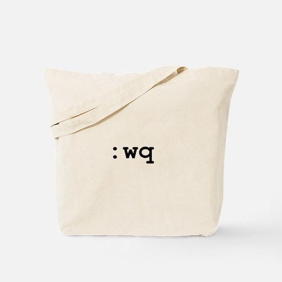 :wq vim command Tote Bag