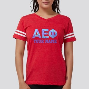 Alpha Epsilon Phi Letters Womens Football T-Shirts