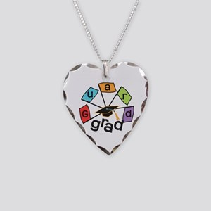 Guard Grad Flags Necklace Heart Charm