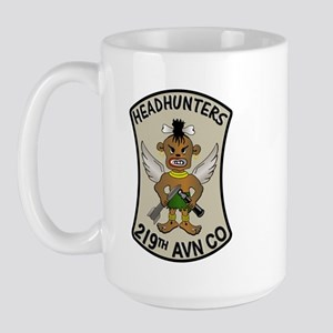 219th AVN CO. HEADHUNTERS Large Mug