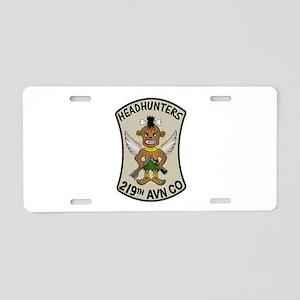 219th AVN HEADHUNTERS Aluminum License Plate