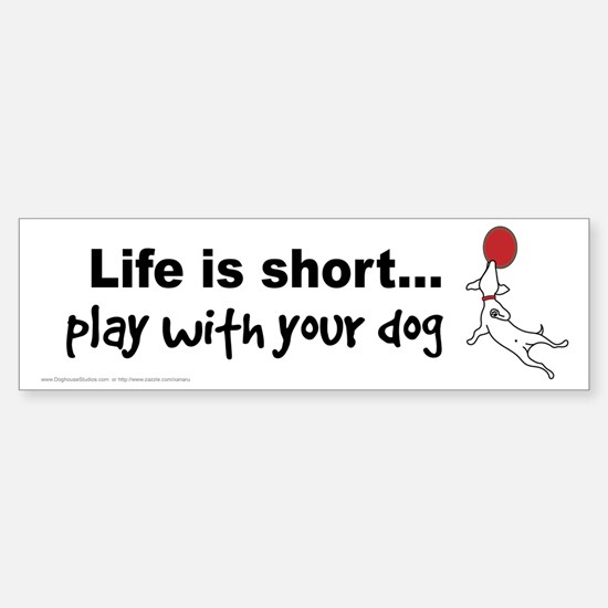 PLAY with your dog Sticker (Bumper)