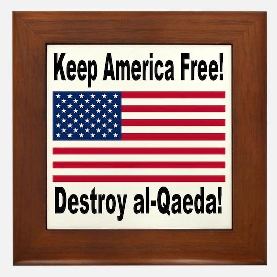 Destroy al-Qaeda Framed Tile