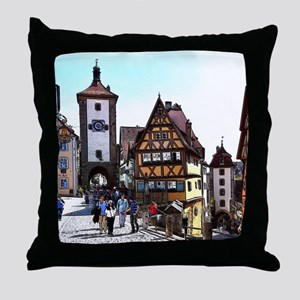 Rothenburg20161201_by_JAMFoto Throw Pillow