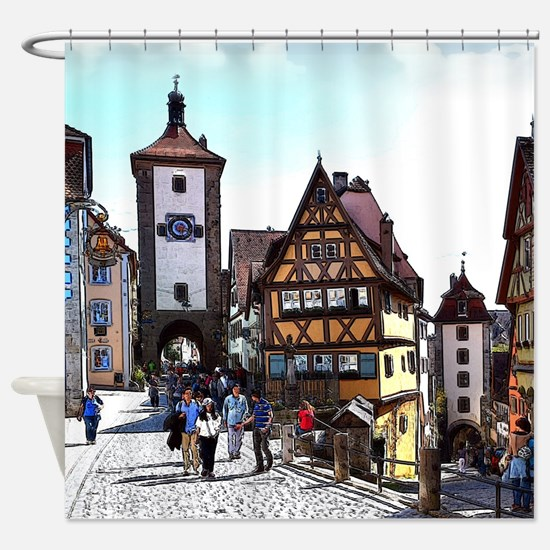 Rothenburg20161201_by_JAMFoto Shower Curtain
