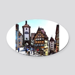 Rothenburg20161201_by_JAMFoto Oval Car Magnet