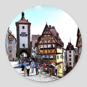 Rothenburg20161201_by_JAMFoto Round Car Magnet