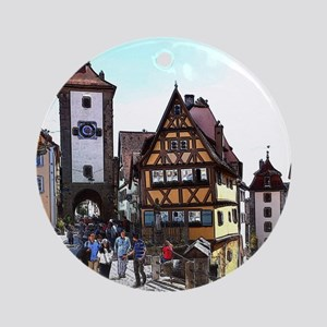 Rothenburg20161201_by_JAMFoto Round Ornament