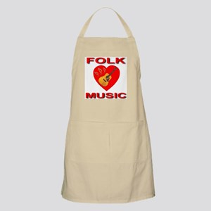 Love Folk Music BBQ Apron