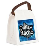Blue Background Logo Canvas Lunch Bag