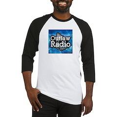 Blue Background Logo Baseball Jersey