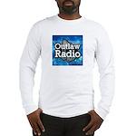 Blue Background Logo Long Sleeve T-Shirt