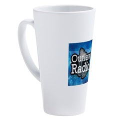 Blue Background Logo 17 oz Latte Mug