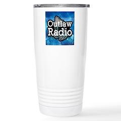 Blue Background Logo Mugs