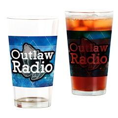 Blue Background Logo Drinking Glass
