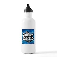 Blue Background Logo Water Bottle