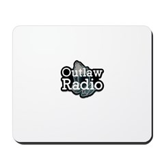 Outlaw Radio Transparent Logo Mousepad