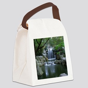 Tranquil Waterfall Canvas Lunch Bag