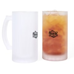 Outlaw Radio Transparent Logo Frosted Stein