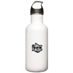 Outlaw Radio Transparent Logo Water Bottle
