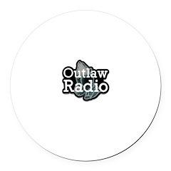 Outlaw Radio Transparent Logo Round Car Magnet