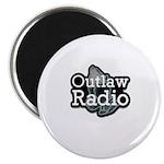 Outlaw Radio Transparent Logo Magnets