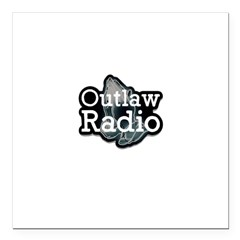 Outlaw Radio Transparent Logo Square Car Magnet 3