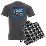 Blue Background Logo Men's Charcoal Pajamas
