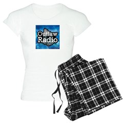 Blue Background Logo Pajamas