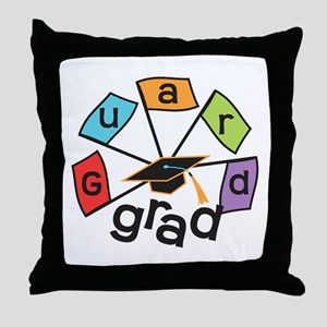 Guard Grad Flags Throw Pillow