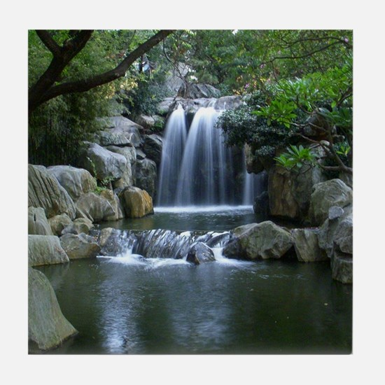 Tranquil Waterfall Tile Coaster