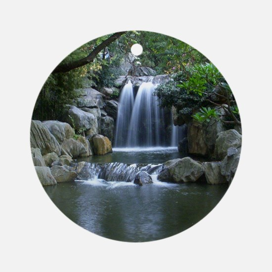 Tranquil Waterfall Round Ornament