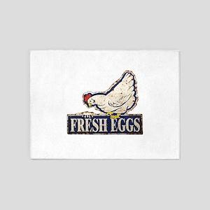 Fresh Eggs 5'x7'Area Rug