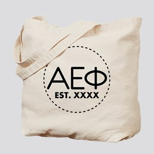 Alpha Epsilon Phi Circle Personalized Tote Bag