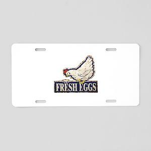 Fresh Eggs Aluminum License Plate