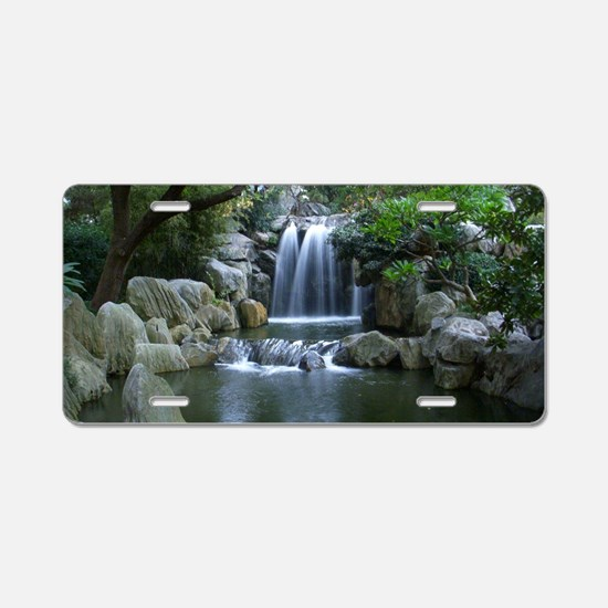 Tranquil Waterfall Aluminum License Plate
