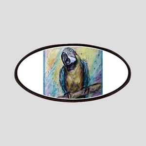Macaw, blue/gold, colorful, Patches